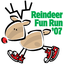 2007 Reindeer Fun Run Logo