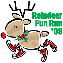 2008 Reindeer Fun Run Logo
