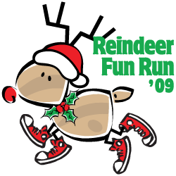 2009 Reindeer Fun Run Logo